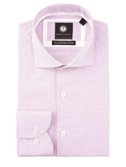 Purple Micro-Textured Shirt