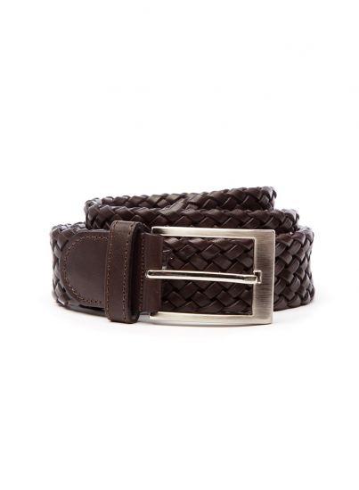 Chocolate Brown Plaited Belt