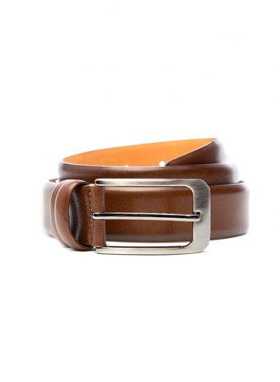Burnt Brown Leather Belt