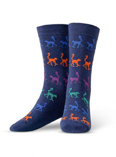 Multi-Colour Monkey Sock