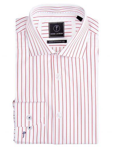 Red Pinstripe Business Shirt