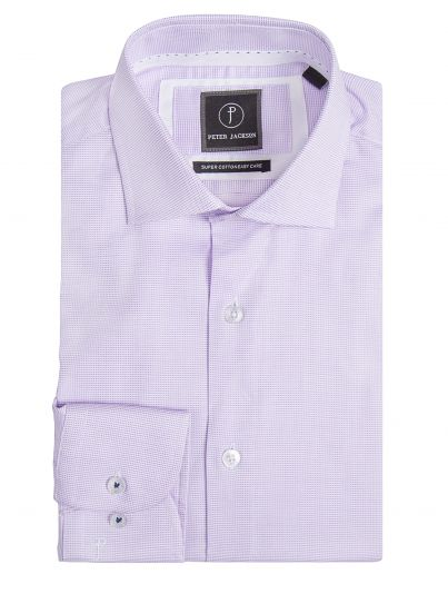 Milan Lilac Micro Shirt