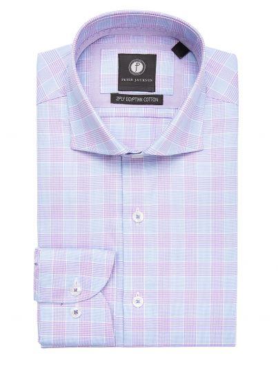 Purple Glen Plaid Shirt