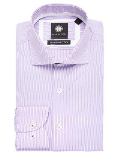 Purple Pencil Striped Shirt
