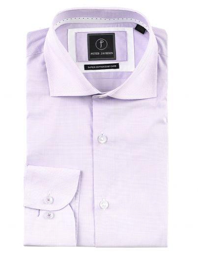 Purple Glen Check Shirt