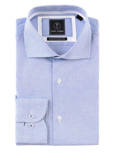 Blue Dobby Micro Shirt