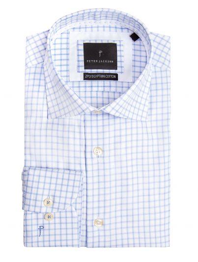 Milan Light Blue Check Shirt