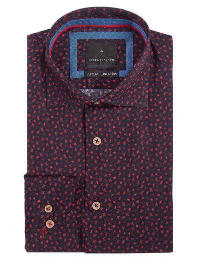 Rimini Red Leaves Shirt