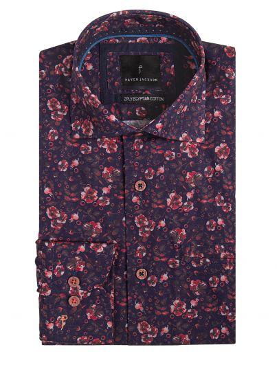 Rimini Navy & Fuscia Floral Shirt